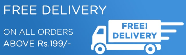 Free Home Delivery on orders above Rs.199
