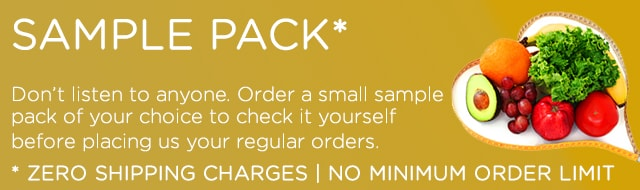 Sample Pack available at Zero Shipping Charges, No minimum order limit